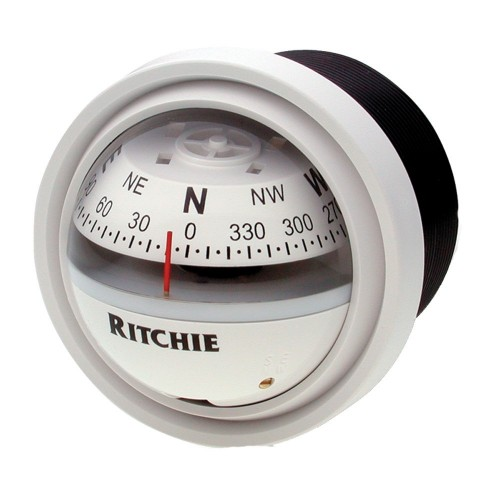 Ritchie V-57W-2 Explorer Compass - Dash Mount - White