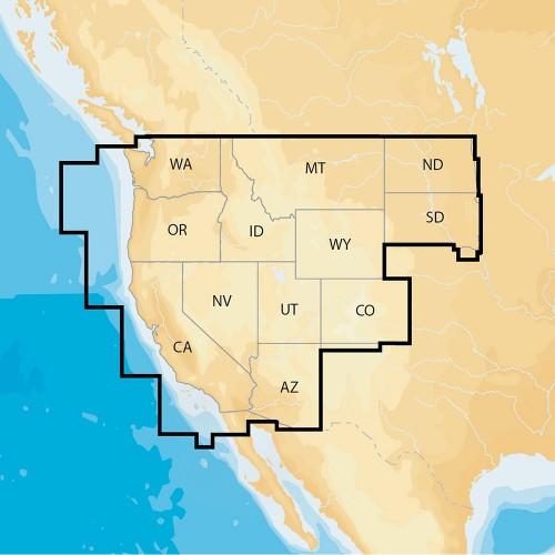 Navionics Navionics- Regions - West - Preloaded MSD Format
