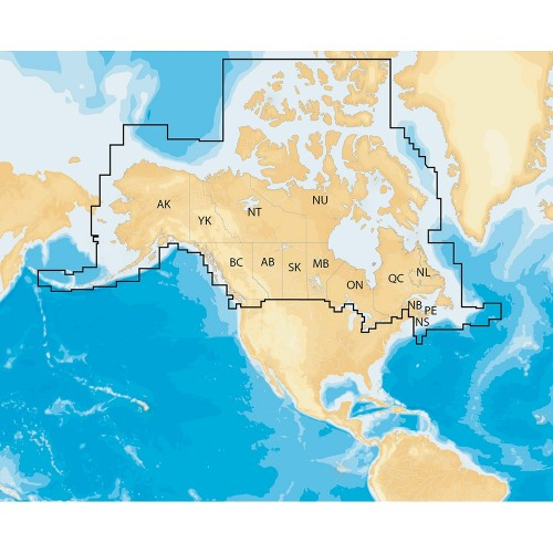Navionics Navionics- Regions - Canada - Alaska - Preloaded MSD Format