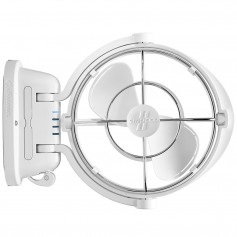 Caframo Sirocco II 3-Speed 7- Gimbal Fan - White - 12-24V