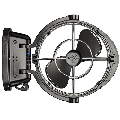 Caframo Sirocco II 3-Speed 7- Gimbal Fan - Black - 12-24V