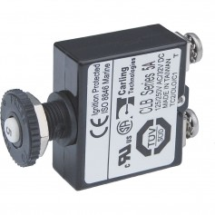 Blue Sea Push Button Reset Only Screw Terminal Circuit Breaker - 5 Amps
