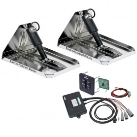 Lenco 12- x 12- Heavy Duty Performance Trim Tab Kit w-Standard Tactile Switch Kit 12V
