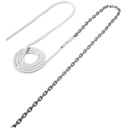 Maxwell Anchor Rode - 18-5-16- Chain to 200-5-8- Nylon Brait