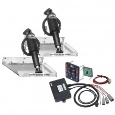 Lenco 12- x 12- Standard Performance Trim Tab Kit w-LED Indicator Switch Kit 12V