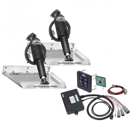 Lenco 16- x 12- Standard Performance Trim Tab Kit w-Standard Tactile Switch Kit 12V