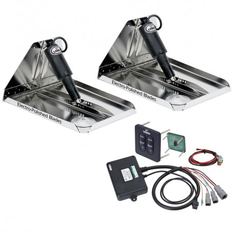 Lenco 16- x 12- Heavy Duty Performance Trim Tab Kit w-Standard Tactile Switch Kit 12V