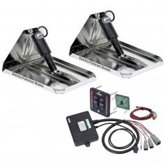 Lenco 16- x 12- Heavy Duty Performance Trim Tab Kit w-LED Indicator Switch Kit 12V