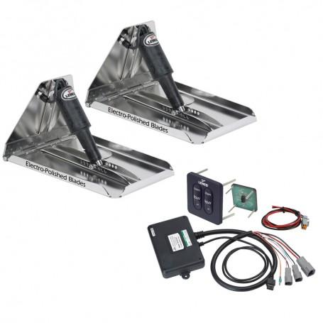 Lenco 17- x 12- Extreme Duty Performance Trim Tab Kit w-Standard Tactile Switch Kit 12V