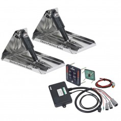 Lenco 17- x 12- Extreme Duty Performance Trim Tab Kit w-LED Indicator Switch Kit 12V