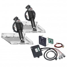 Lenco 18- x 14- Standard Performance Trim Tab Kit w-Standard Tactile Switch Kit 12V