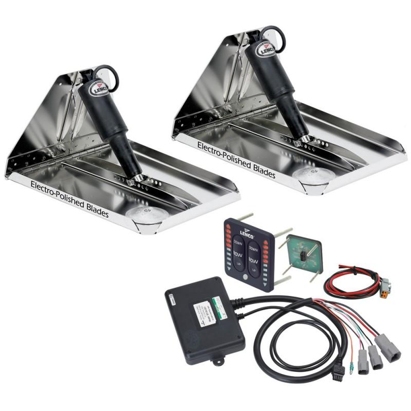 Lenco 18- x 14- Heavy Duty Performance Trim Tab Kit w-LED Indicator Switch Kit 12V