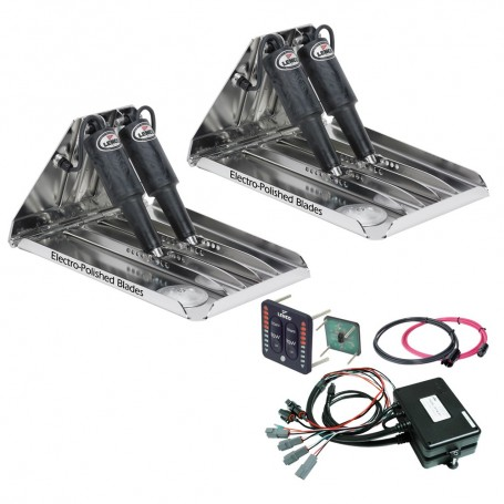 Lenco 19- x 14- Extreme Duty Performance Trim Tab Kit w-LED Indicator Switch Kit 12V