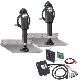 Lenco 9- x 9- Standard Trim Tab Kit w-Standard Tactile Switch Kit 12V