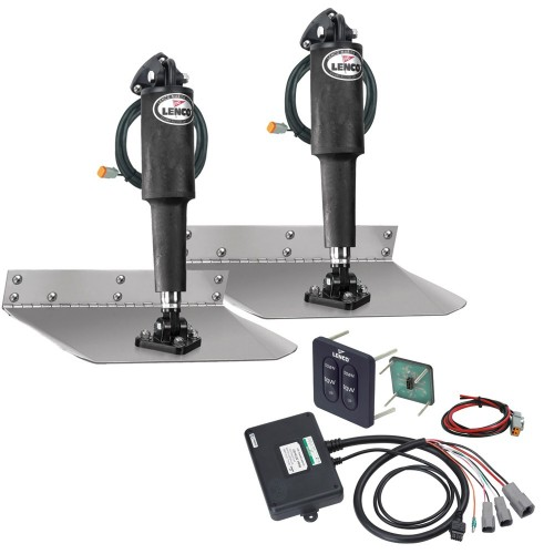 Lenco 9- x 9- Standard Trim Tab Kit w-Standard Tactile Switch Kit 12V