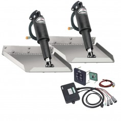 Lenco 9- x 9- Edgemount Trim Tab Kit w-Standard Tactile Switch Kit 12V