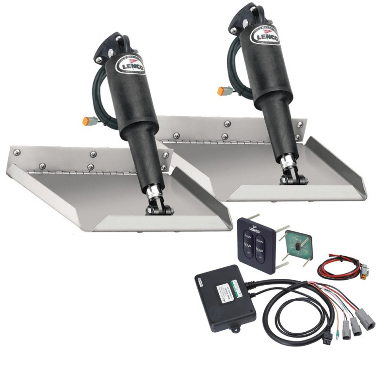 Lenco 9- x 9- Edgemount Trim Tab Kit w-Standard Tactile Switch Kit 12V