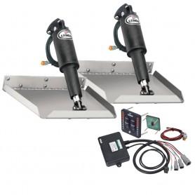 Lenco 9- x 9- Edgemount Trim Tab Kit w-LED Indicator Switch Kit 12V