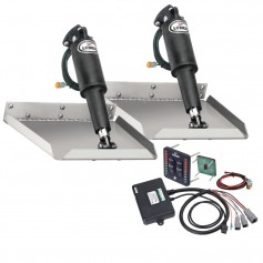 Lenco 9- x 9- Edgemount Trim Tab Kit w-LED Indicator Switch Kit 12V