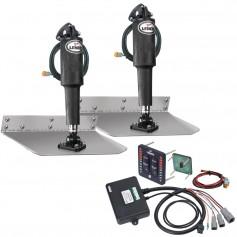 Lenco 9- x 9- Standard Trim Tab Kit w-LED Indicator Switch Kit 12V