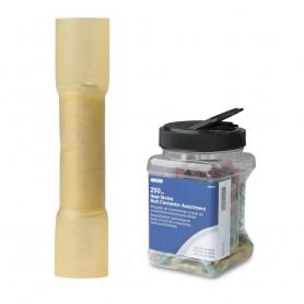 Ancor 12-10 AWG Heat Shrink Butt Connector - 250-Pieces - Jar