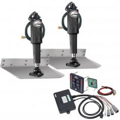Lenco 9- x 12- Standard Trim Tab Kit w-LED Integrated Switch Kit 12V