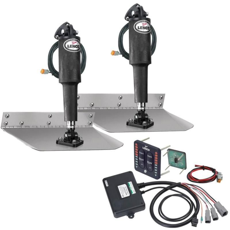 Lenco 9- x 12- Standard Trim Tab Kit w-LED Integrated Switch Kit 12V