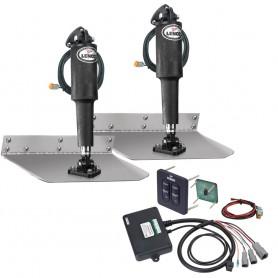 Lenco 9- x 18- Standard Trim Tab Kit w-Standard Tactile Switch Kit 12V