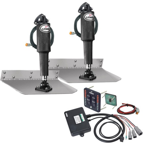 Lenco 9- x 18- Standard Trim Tab Kit w-LED Indicator Switch Kit 12V
