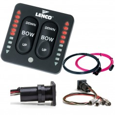 Lenco LED Indicator Integrated Tactile Switch Kit w-Pigtail f-Dual Actuator Systems