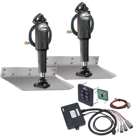 Lenco 9- x 24- Standard Trim Tab Kit w-Standard Tactile Switch Kit 12V