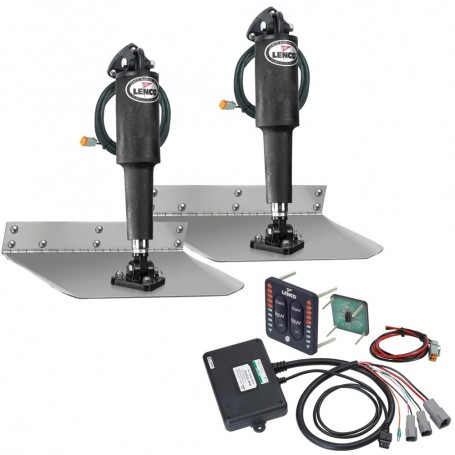Lenco 9- x 30- Standard Trim Tab Kit w-LED Indicator Switch Kit 12V