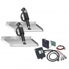 Lenco 12- x 12- Edgemount Trim Tab Kit w-Standard Tactile Switch Kit 12V