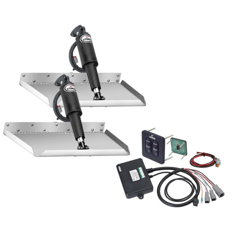 Lenco 12- x 12- Edgemount Trim Tab Kit w-Standard Tactile Switch Kit 12V