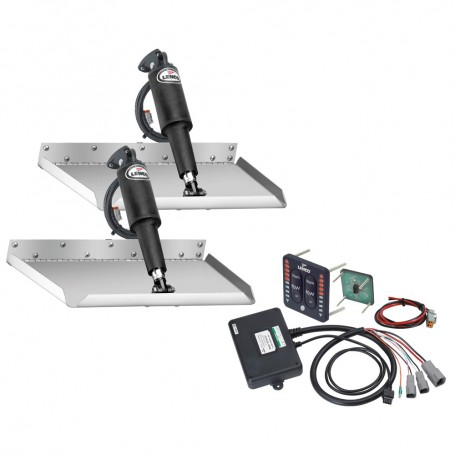 Lenco 12- x 12- Edgemount Trim Tab Kit w-LED Indicator Switch Kit 12V