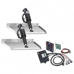 Lenco 12- x 12- Edgemount Trim Tab Kit w-LED Indicator Switch Kit 12V