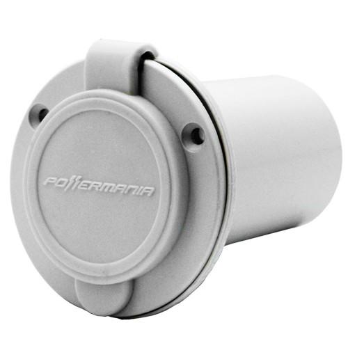 Powermania AC Plug Port - White