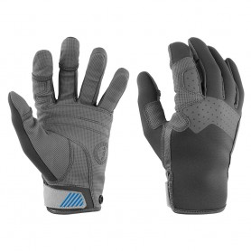 Mustang Traction Full Finger Glove - Gray-Blue - Small
