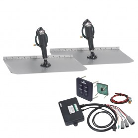 Lenco 12- x 18- Standard Trim Tab Kit w-Standard Tactile Switch Kit 12V