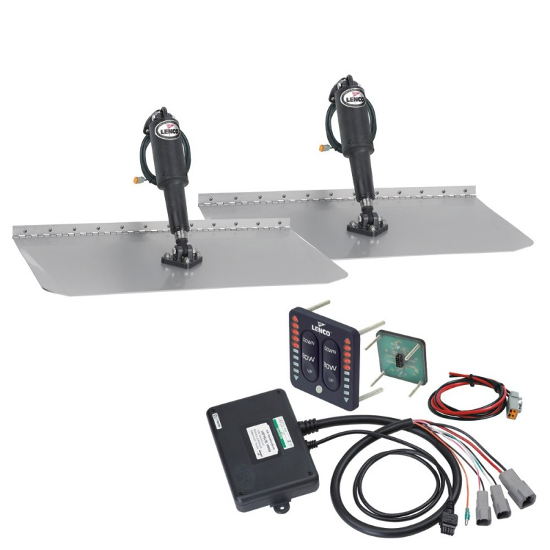 Lenco 12- x 18- Standard Trim Tab Kit w-LED Indicator Switch Kit 12V