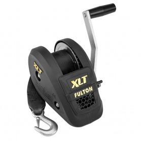 Fulton 1500lb Single Speed Winch w-20- Strap Included - Black Cover