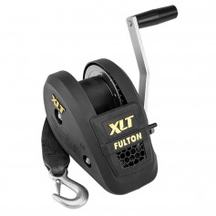 Fulton 1500lb Single Speed Winch w-20- Strap Included - Black Cover
