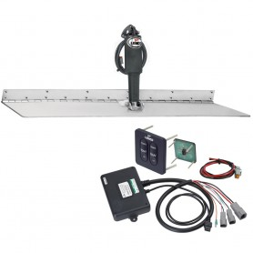 Lenco 12- x 24- Super Strong Trim Tab Kit w-Standard Tactile Switch Kit 12V