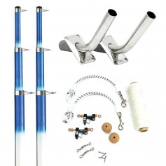 Tigress 15- Fiberglass Telescoping Outrigger System - White-Blue