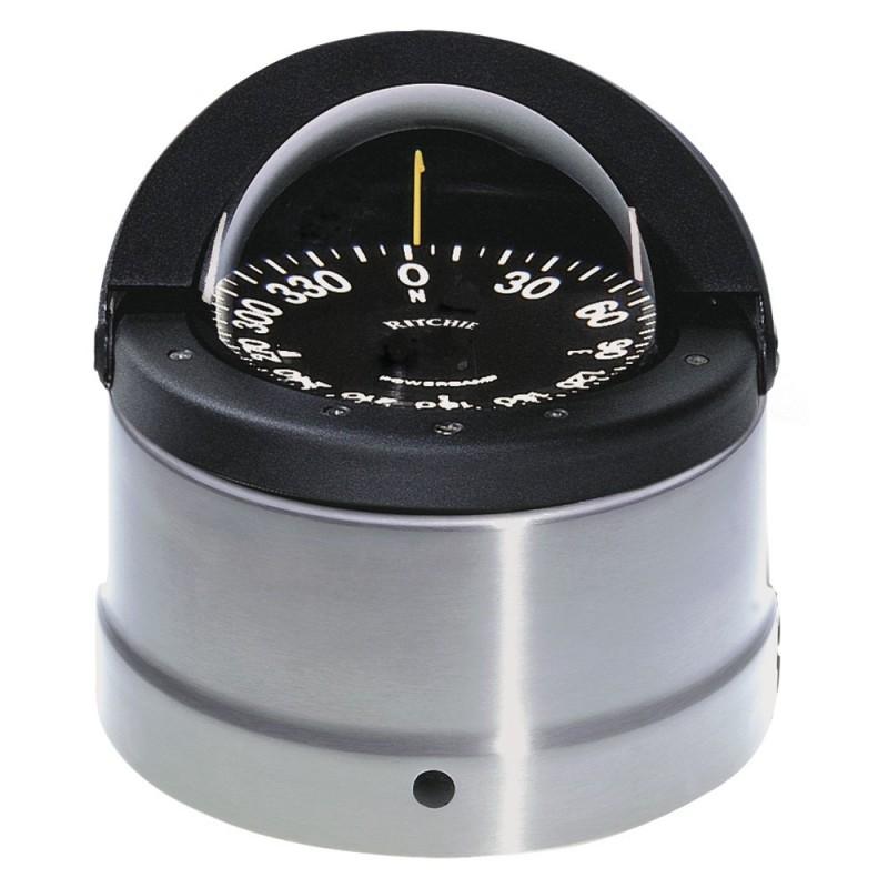Ritchie DNP-200 Navigator Compass - Binnacle Mount - Polished Stainless Steel-Black