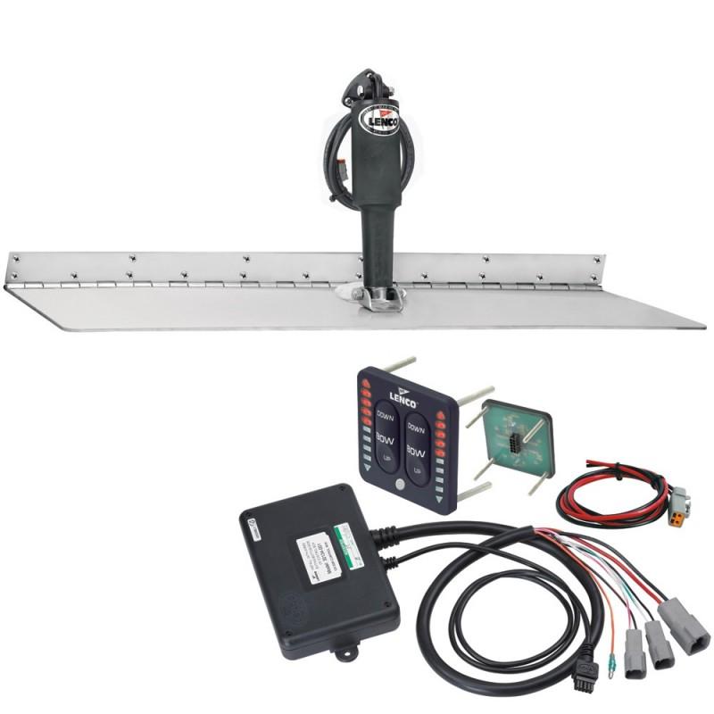 Lenco 12- x 24- Super Strong Trim Tab Kit w-LED Indicator Switch Kit 12V