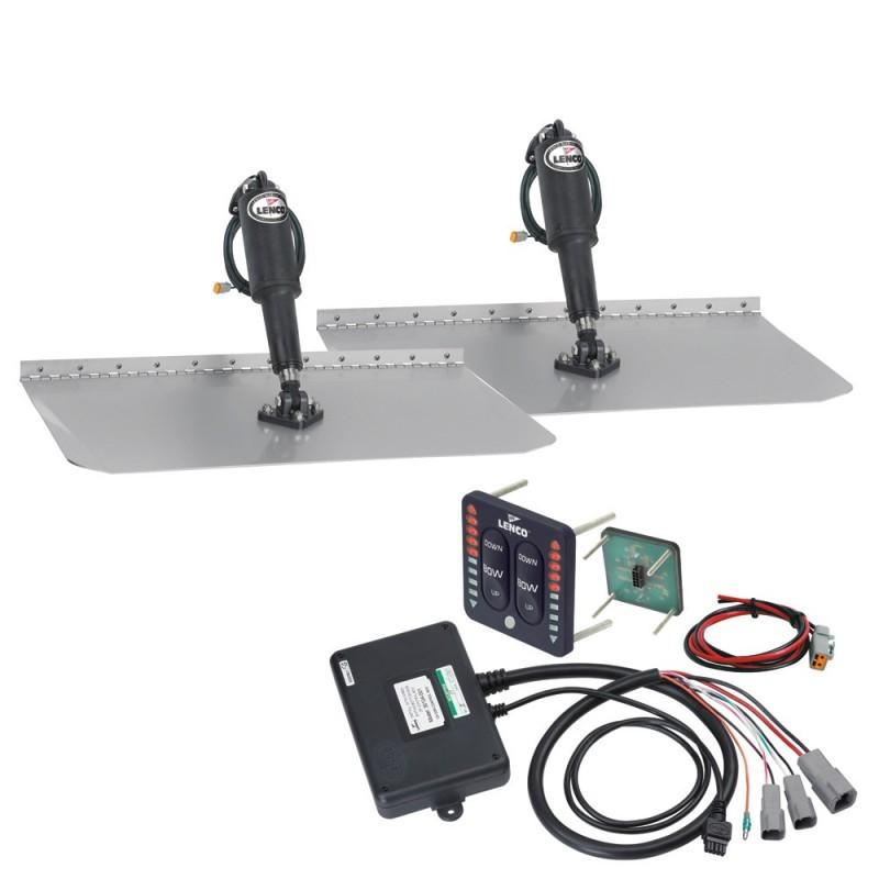 Lenco 12- x 30- Standard Trim Tab Kit w-LED Indicator Switch Kit 12V