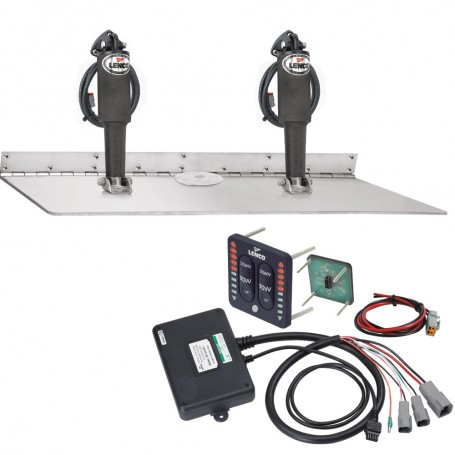 Lenco 16- x 24- Dual Actuator Super Strong Trim Tab Kit w-LED Indicator Switch Kit 12V