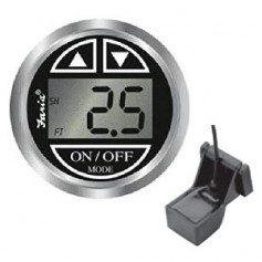 Faria Chesapeake Black 2- Depth Sounder w-Transom Mount Transducer