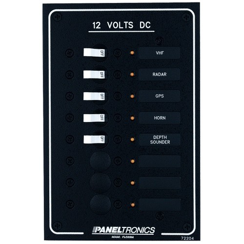 Paneltronics Standard DC 8 Position Breaker Panel w-LEDs